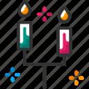 candle, celebration, decoration, new year icon