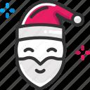 christmas, santa claus, xmas icon