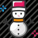 cold, snowman, winter icon
