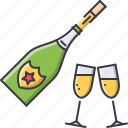 champagne, christmas, glass, holiday, new, winter, year icon