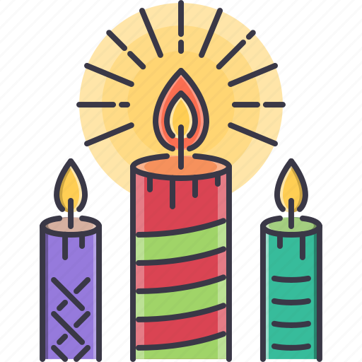 candle, candles, christmas, fire, light, new, year icon