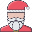 christmas, claus, new, santa, story, winter, year icon