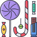 candies, candy, christmas, lollipop, new, winter, year icon