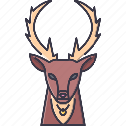 bell, christmas, deer, new, santa, winter, year icon