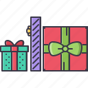 christmas, gifts, holiday, new, winter, year icon
