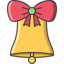 bell, christmas, holiday, new, winter, year icon