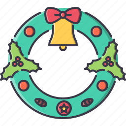 bell, christmas, cone, new, winter, wreath, year icon