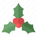 berries, christmas, happy, new year, party, xmas icon