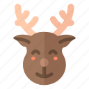 christmas, deer, new year, reindeer, santa, santa claus, xmas icon