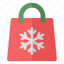 christmas, snow, celebrate, xmas, bag, party, new year