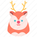 animal, christmas, deer, holiday, new year, winter, xmas