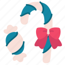 candy, christmas, decoration, holiday, new year, ribbon, stick icon