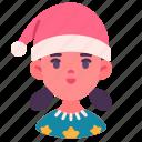 holiday, avatar, girl, kid, christmas, xmas, happy