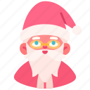 avatar, christmas, claus, holiday, man, old, santa