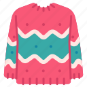 christmas, clothes, holiday, new year, sweater, winter, xmas icon