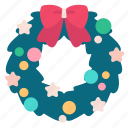 ball, christmas, holiday, new year, stars, wreath, xmas icon