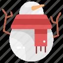 christmas, shapes, snow, snowman, winter