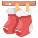 christmas, christmas sock, clothes, clothing, fashion, garment, sock icon