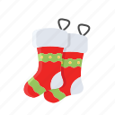 christmas, decoration, gift, socks, winter, xmas