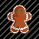 christmas, cookie, gingerbeard, man, xmas