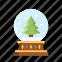 christmas, decoration, glass, globe, ornament, xmas