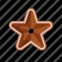 christmas, cookie, gingerbeard, star, xmas