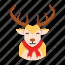 christmas, deer, reindeer, rudolph, winter, xmas