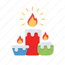 candle, christmas, decoration, ornament icon