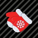 christmas, glove, hand, snow, winter, xmas
