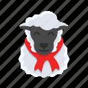 christmas, lamb, sheep, snow, winter, xmas
