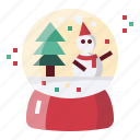 christmas, decoration, globe, ornament, snow