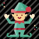 christmas, elf, figurine, holidays, santas, helper icon