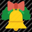 christmas, bell, decoration, celebration, jingle, xmas, ornament icon