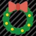 christmas, wreath, garland, decoration, festive, xmas, ornament