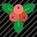 mistletoe, winter, decoration, christmas, plant, xmas, holly icon