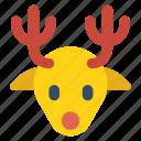 reindeer, christmas, animal, deer, sleigh, wildlife, mammal icon