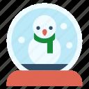 snow globe, christmas, xmas, decoration, snowflake, snowglobe, snowman icon