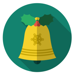 bell, christmas, gold, holiday, sound, xmas icon