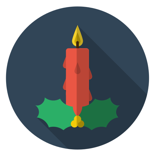 candle, christmas, holiday, light, red, xmas icon