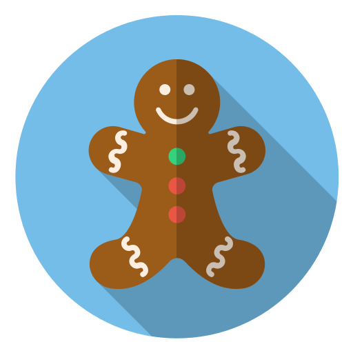 christmas, cute, gingerbread, holiday, smile, winter, xmas icon