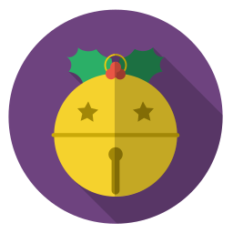 christmas, gold, holiday, jinglebell, winter, xmas icon
