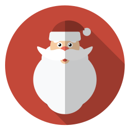 christmas, face, hairy, holiday, santa, winter, xmas icon