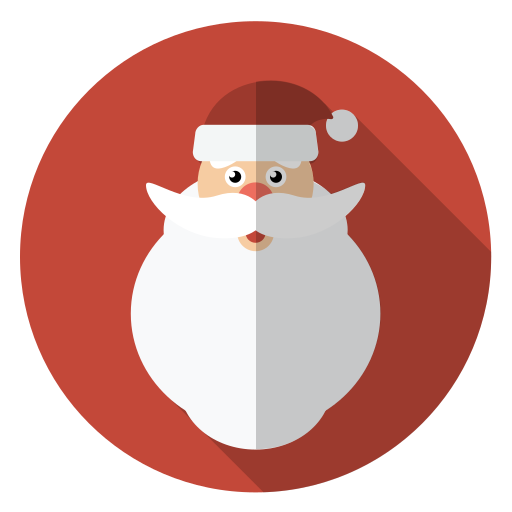 Christmas Icons Png.Christmas Face Hairy Holiday Santa Winter Xmas Icon