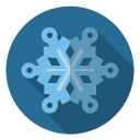 blue, christmas, frost, snow, snowflake, winter, xmas icon