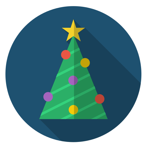 chain, christmas, decoration, green, star, tree, xmas icon