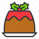 christmas, food, pudding, sweets icon
