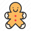 biscuit, christmas, cookie, food, gingerbread, sweets icon
