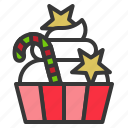 cake, christmas, cupcake, dessert, food, sweets