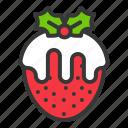 christmas, fondue, food, strawberry, white chocolate