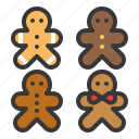 biscuit, christmas, cookies, food, gingerbread icon